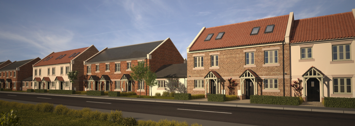 A street scene from the Chilton residential property investment opportunity in County Durham
