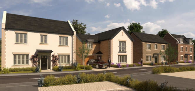 Example of potential homes on Chilton residential development site