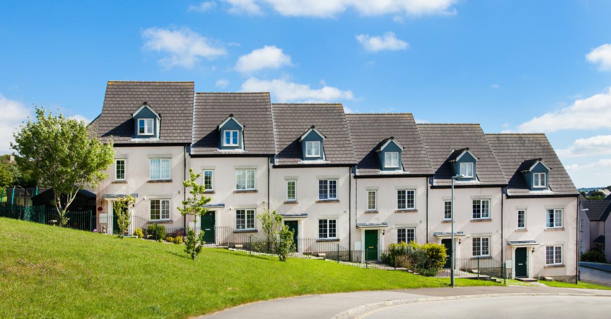 A row of new terraced houses