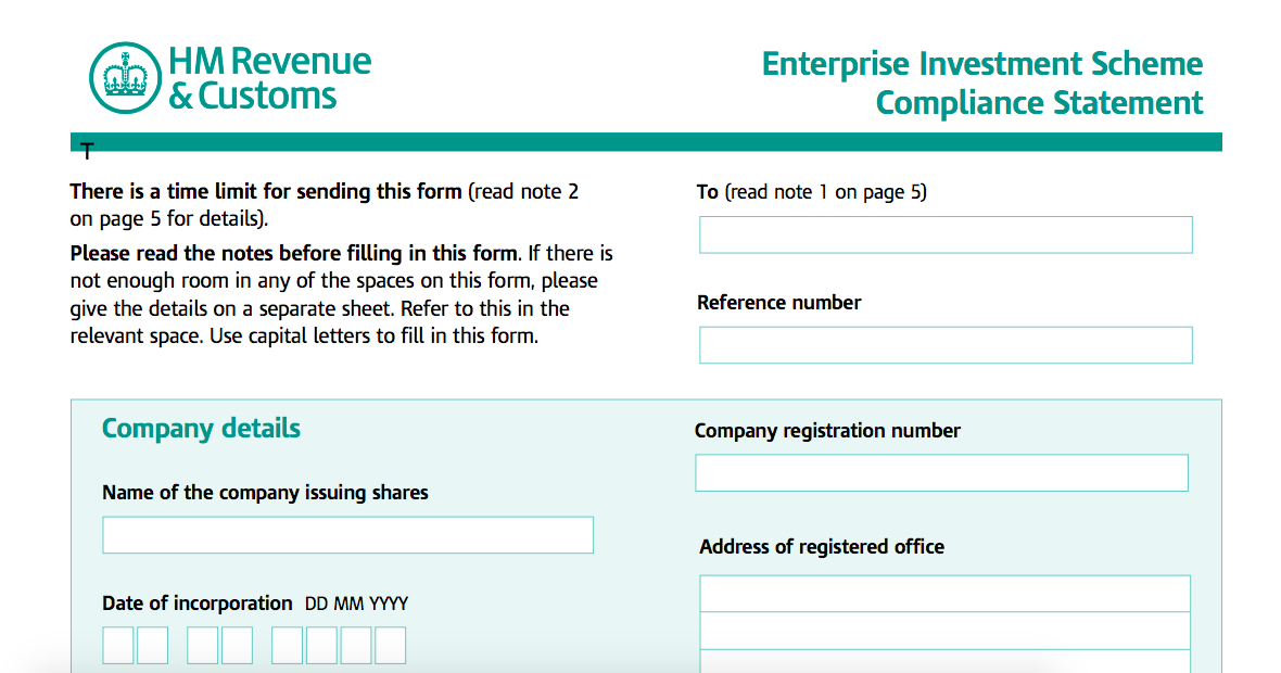 Claiming tax relief on EIS eligible investments