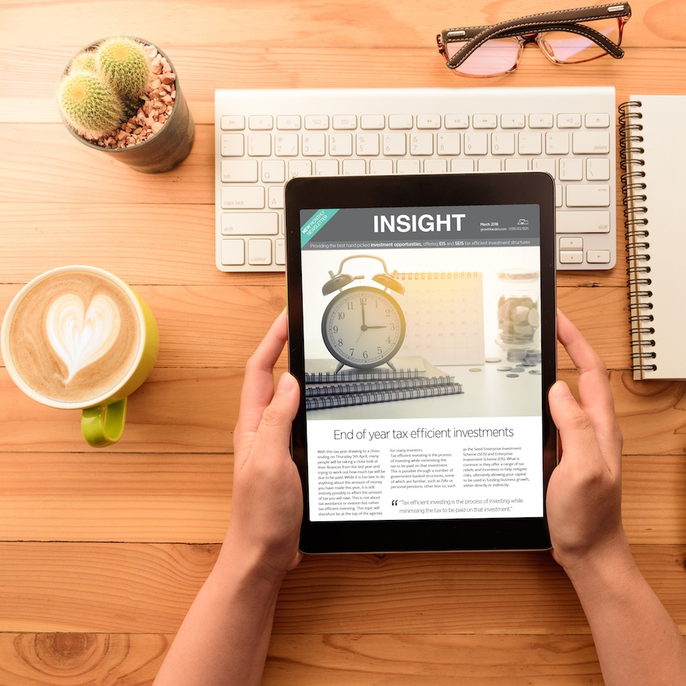 Insight | March 2018: end of year tax efficient investments