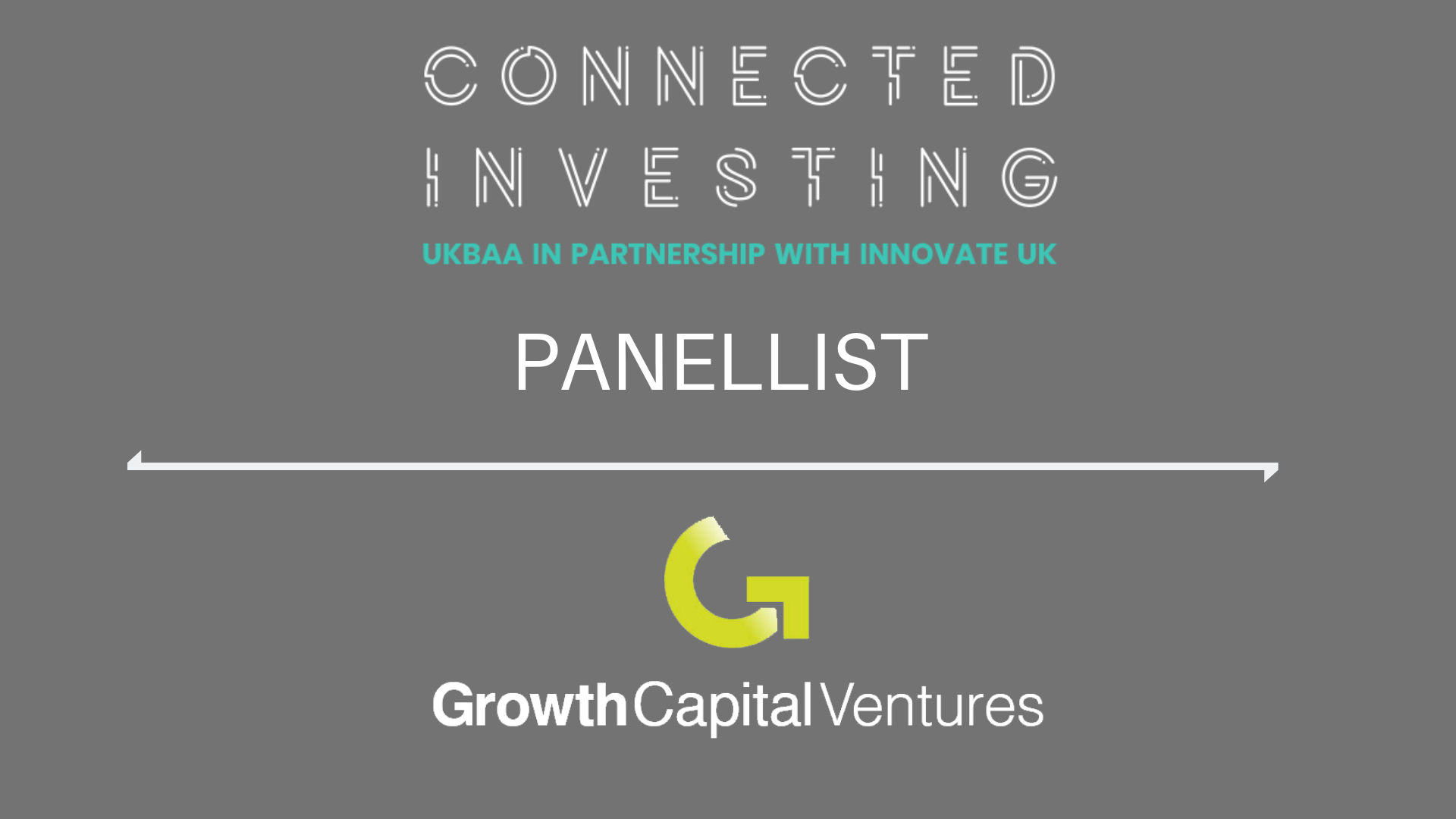 GCV invited to discuss Effective Investing at Connected Investing Event